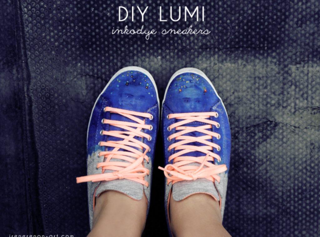 Lumi Inkodye DIY sneakers