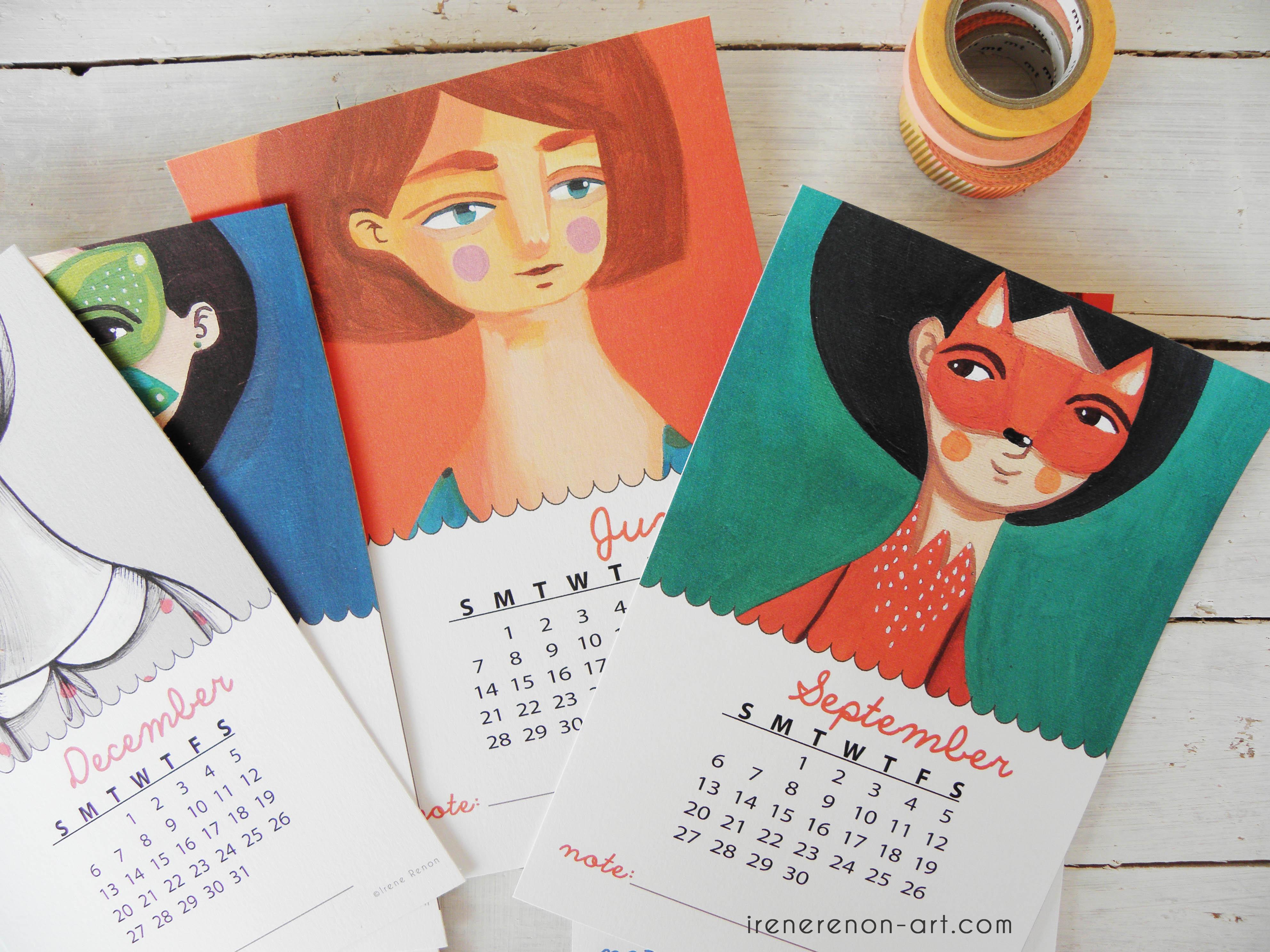 Calendario Illustrato.Calendario Illustrato 2015 Irene Renon
