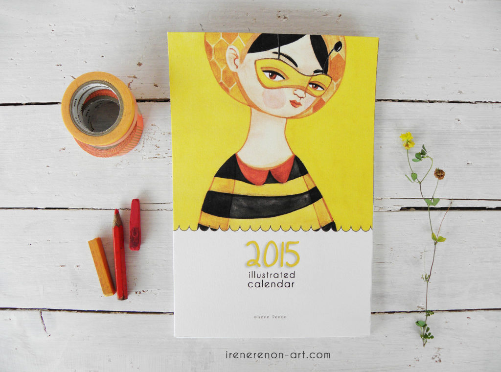 Calendario illustrato 2015 | Irene Renon illustrazioni