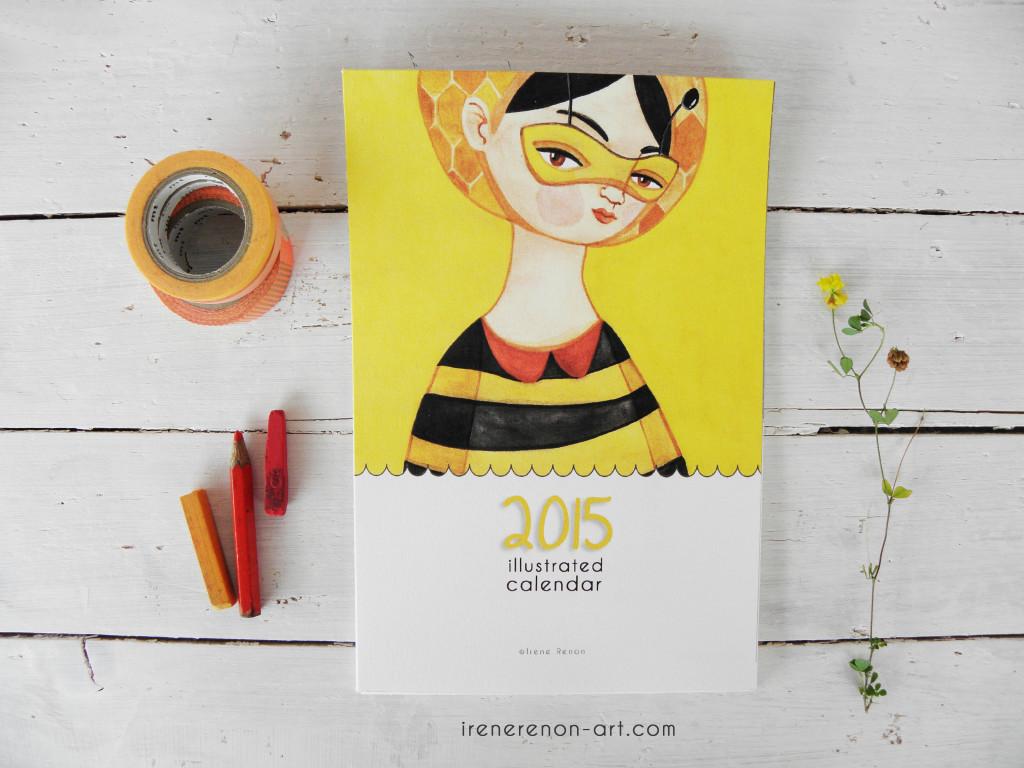 Calendario illustrato 2015 | Irene Renon illustrazioni