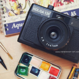 Vacanze-macchina-fotografica-acquerelli