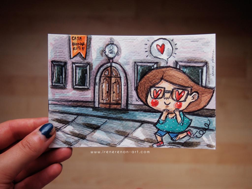 casa-buonarroti-michelangelo-illustrazione