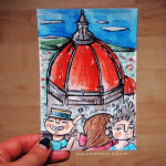 Cartolina-illustrata-da-firenze-illustrzione