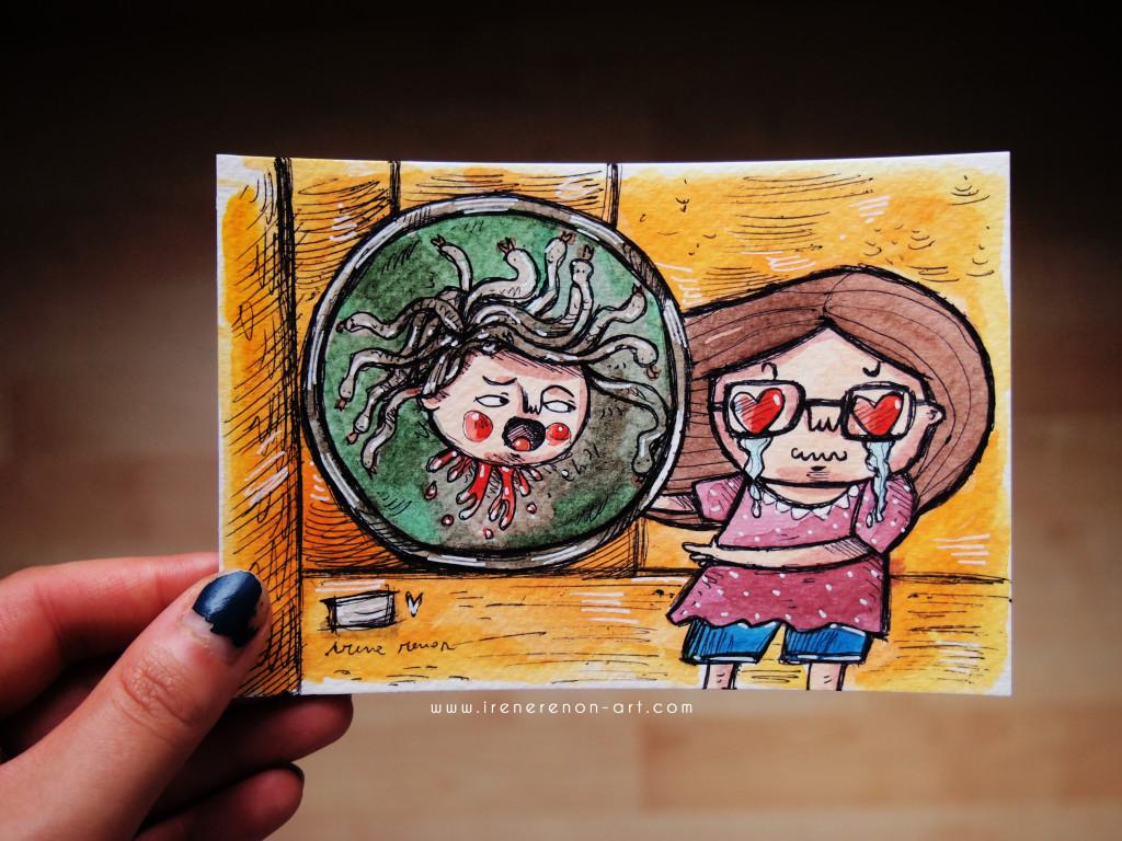 medusa-caravaggio-illustrazione