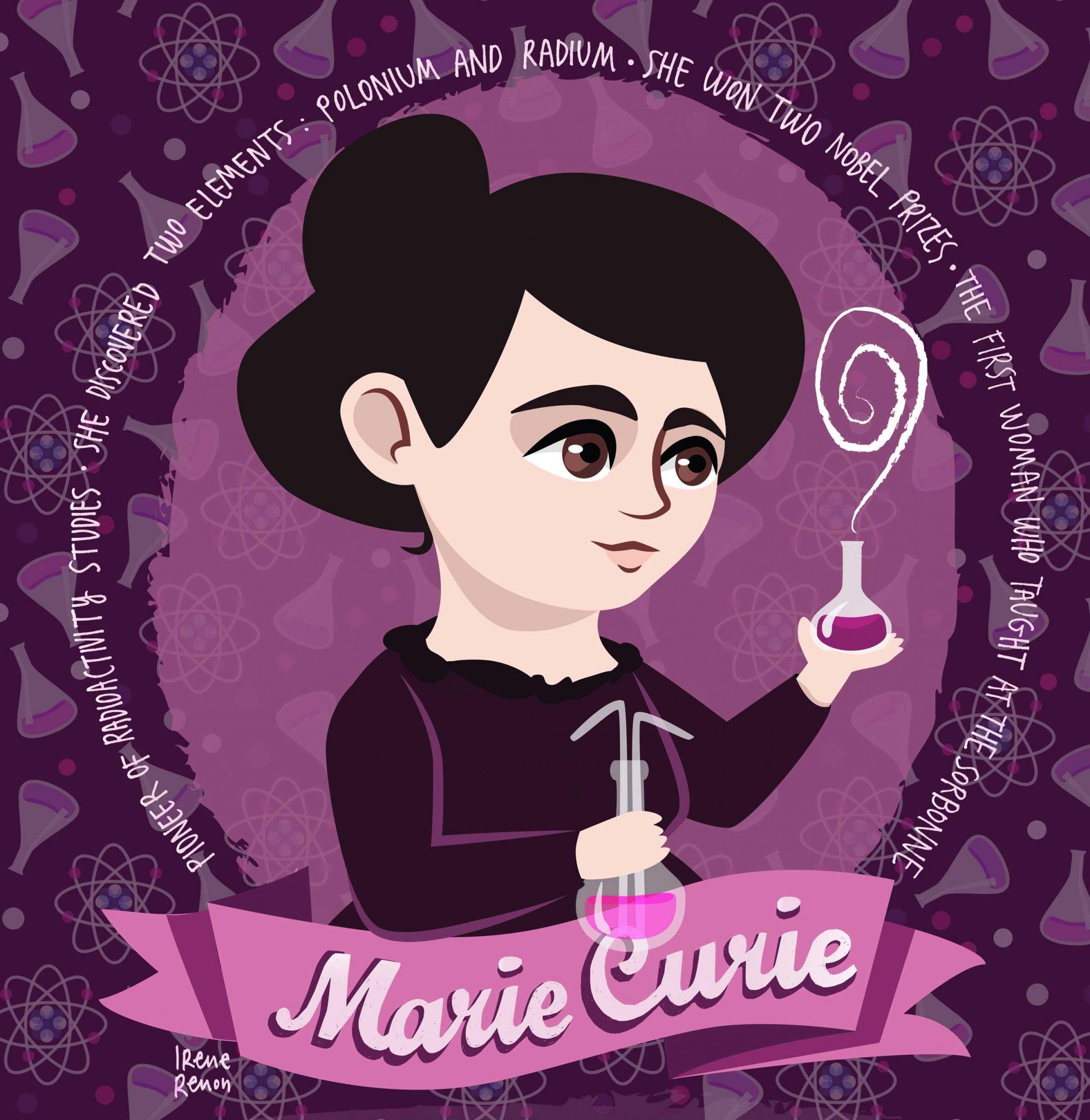 Marie Curie illiustration
