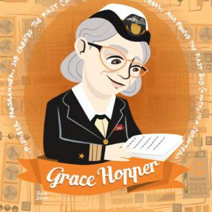Grace hopper, programmer, women of science, women in science, donne nella scienza, ritratti illustrati donne nella scienza