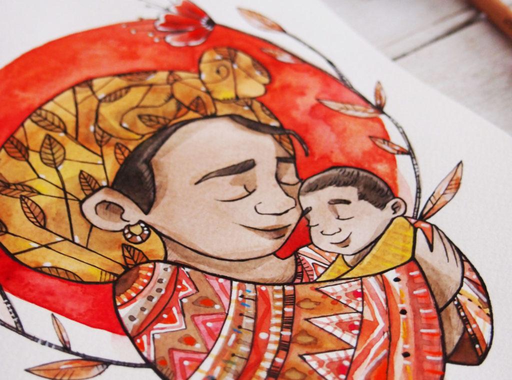 ritratto di famiglia, ritratto personalizzato, ritratto personalizzabile, ritratti di famiglia, ritratto illustrato