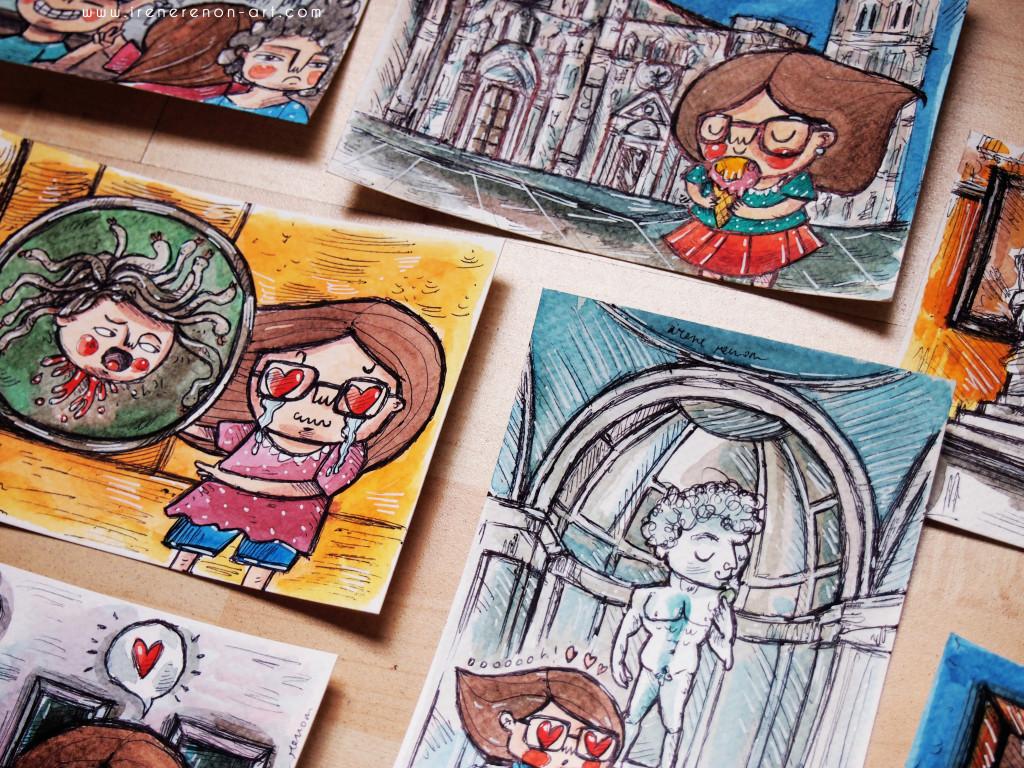 cartoline-illustrate-firenze