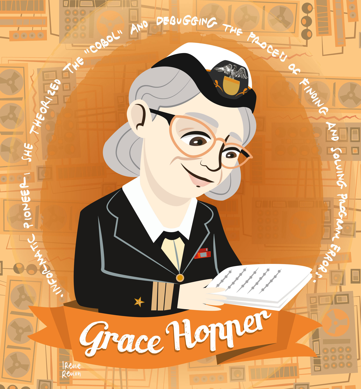 Grace Hoper, scientist, women in science, women of science, donne nella scienza, illustrazioni donne nella scienza
